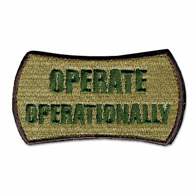 Tactical Combat Military Backpack Morale Patch Hook & Loop Operate OPRTNLY TAN