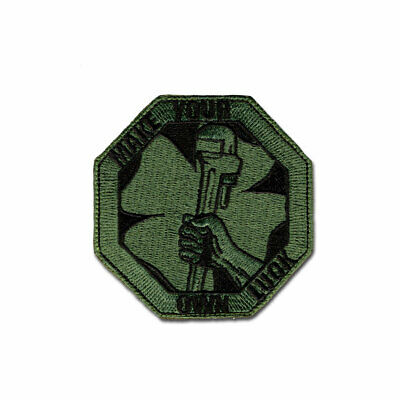 Tactical Combat Military Morale Backpack Patch Hook & Loop Patch Own Luck ODG