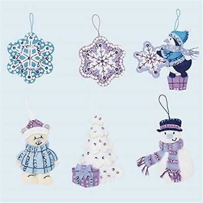 Bucilla Hallmark Felt Ornaments Applique Kit Set Of 6-wintry Wonderland