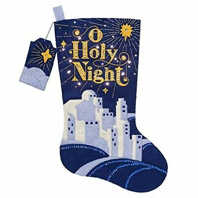 "Bucilla Hallmark Felt Applique Stocking Kit 18"" Long-o Holy Night W/led Lights"