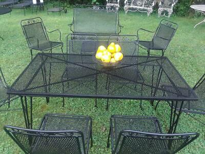 Mid Century Modern Salterini Wrought Iron Patio Furniture 1940 S