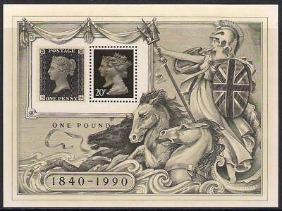 GB 1990 Commemorative Stamps~Stamp World~ M/S~Unmounted Mint Set~UK
