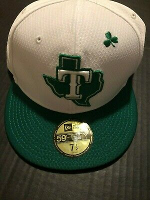best sneakers 5d5ee 4ce9e MLB Texas Rangers New Era 2019 St. Patrick s Day 59FIFTY Fitted Cap Hat 7 1