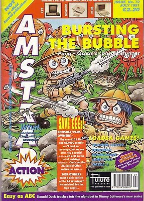 Amstrad Action No. 70 - July 1991 Magazine - Good Condition - Bagged *