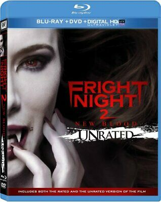 Fright Night 2: New Blood (Blu-ray/DVD, 2013, 2-Disc Set, Unrated) - Brand New