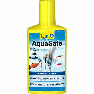 4 x Tetra AquaSafe Tap Water Conditioner Dechlorinator for fish tank 100ml each