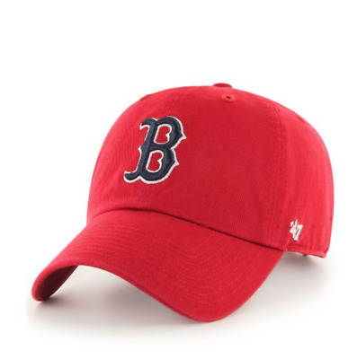 1f854f7a10f2f3 Boston Red Sox '47 Brand Clean Up Adjustable Strap Hat Dad Hat NWT - Red