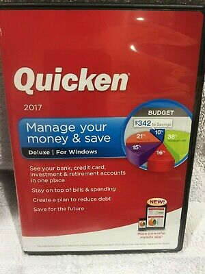 Factory sealed Retail Case Intuit Quicken Home and Business 2017 For Windows