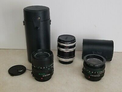 VIVITAR AT-4 Canon FL FD Automatic Extension Tube Set 36mm 20mm 12mm & MORE!