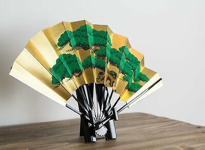 Gold and Silver Japanese Fan