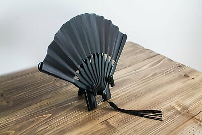 Leather-bound Japanese Fan