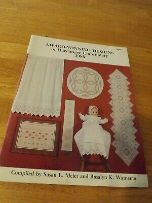 Vintage Award Winning Designs Hardanger Embroidery Book 1986  Doll Dress curtain