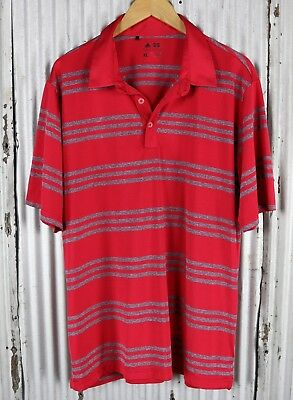 Adidas Golf ClimaLite Polo Shirt Mens XL SS classic fit polyester red athletic