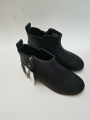 c943eb250 Cat And Jack Girls Black Ankle Chelsea Boots Target Shoes Size 2 Youth NEW