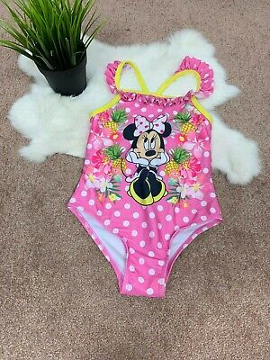 be46afd71a4ed Disney Toddler Girl Bathing Suit Sz 5T Swimwear One Piece Minnie Mouse  Polka Dot