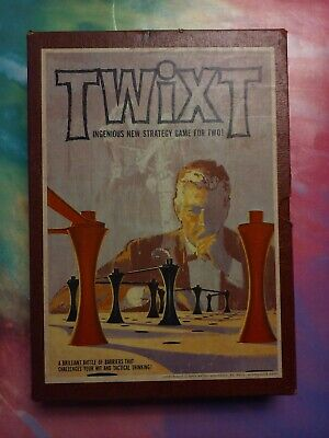 Vintage 3M Bookshelf Game Twixt 1962 Strategy 2 player Barrier Peg Board Game
