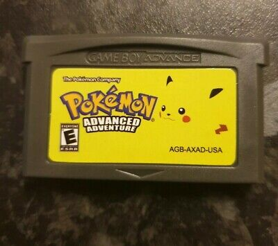 Pokemon Advanced Adventure GBA SP DS GameBoy Advance Game. Leaf Green Hack