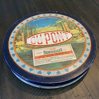 Antique DuPont 35mm Nitrate Film Container. Vintage Film.