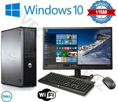 Dell/Hp Dual Core Desktop Tower Pc & Tft Computer System Windows 10 ,4Gb,250Gb
