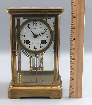 Antique Victorian Period French Crystal Regulator Clock, Bailey Banks and Biddle