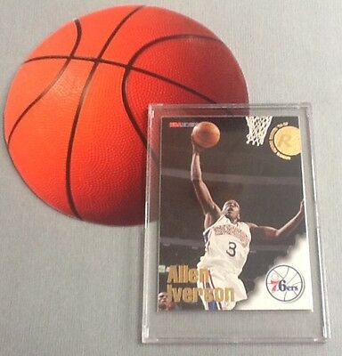 Allen Iverson Hoops Rookie Card - 2016 Hall of Fame Inductee
