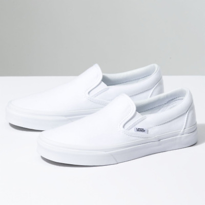 New Men Women Vans New Classic Slip On True White Era Sneakers