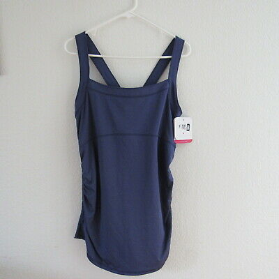 c5c0803b7 Ingrid Isabel Maternity XL Top Active Tank Solid Purple Ruched Sides Stretch