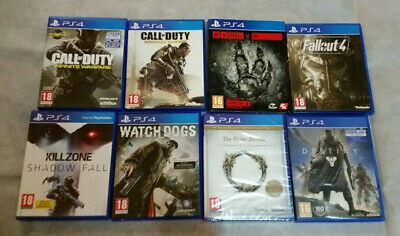 ps4 games bundle lot collection station 4 call duty evolve fall out zone dogs