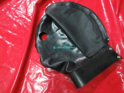 Latex Maske Latexmaske disziplin Isolation Rubber Mask Hood Schutmaske