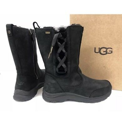 391d94d9f4a NEW IN BOX: Ugg Suvi Waterproof Leather Women's Black Boots. Size 7.5