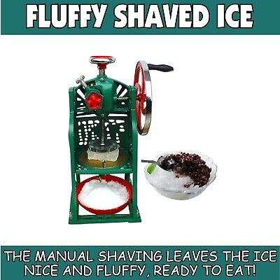 SNOW KONES Ice Shaver - MANUAL  NO POWER NEEDED - BLOCK ICE Sno Cones - Fast