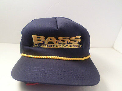 Bass Anglers Sportsman Society HAT CAP FISHING FISHERMAN SPORTSMAN HAT USA