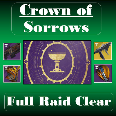 Destiny 2 | CROWN OF SORROW Full Raid | Xbox One Only (Season of Opulence)