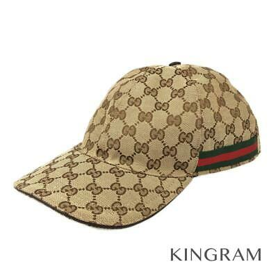 cb1b3d5e GUCCI Original GG canvas baseball cap L 59cm Sherry 200035 Brown from Japan