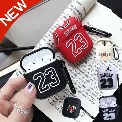 outlet store 41a13 d9e86 Air Jordan 23 Earphone Apple AirPods Hot Silicone Case Protective Cover  Keychain