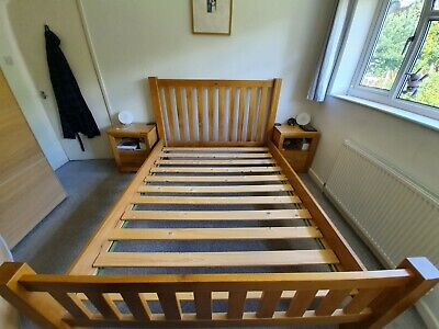 Dreams King Size Chunky Solid Oak Bed Frame And Slats