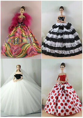 4 PCS Fashion Royalty Princess Party Dress/Clothes/Gown For 11 in. Doll N05