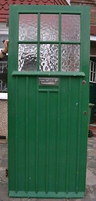 1920/30s English front door large flemish glass. R938. DELIVERY OPTIONS