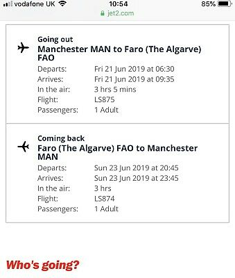 Flight Tickets Manchester to Faro with Jet2