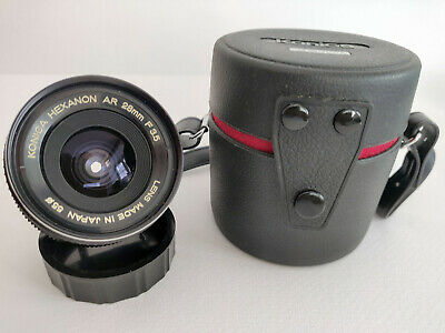 Konica 28mm F3.5 AR Hexanon lens, excellent condition