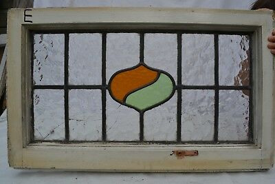 Frame 665 x 406mm leaded light stained glass window sash ABOVE DOOR SIZE. B631e