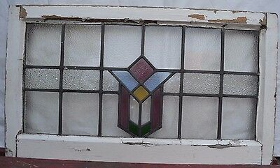 Frame 750 x 432mm leaded light stained glass window sash ABOVE DOOR SIZE. R541