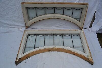 2 leaded light stained glass window sashes. R785