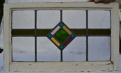 Frame 708 x 423mm leaded stained light glass window sash ABOVE DOOR SIZE! R711