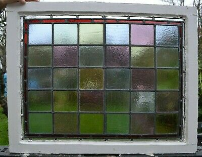 Frame 777 x 611mm stained glass leaded light window panel ABOVE DOOR SIZE! R891c