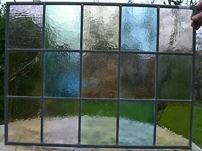 660 x 550mm traditional stained glass window panel. NEWLY MADE. R131h.