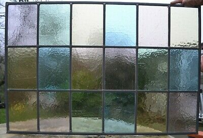770 x 525mm traditional leaded light stained glass window panel NEWLY MADE R131i