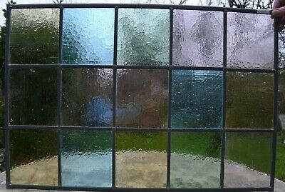 710 x 480mm traditional leaded light stained glass window panel NEWLY MADE R131k