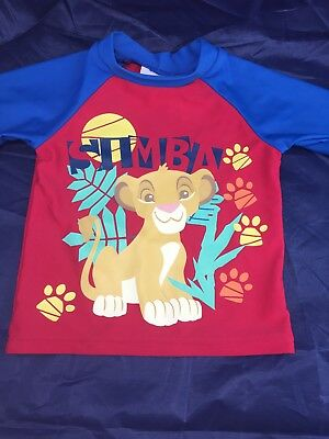 "DISNEY BABY ""SIMBA"" LION KING SWIMWEAR LONG SLEEVE RASHIE SIZE (00)3-6 Months."