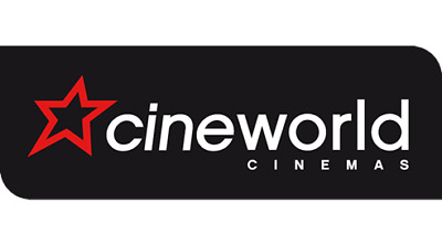 cinema ticket to a 2D film at Cineworld, Showcase, and more On a SUNDAY ONLY